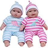JC Toys Lots to Cuddle Babies, 13-Inch Baby Soft Doll Soft Body Twins, Designed by Berenguer