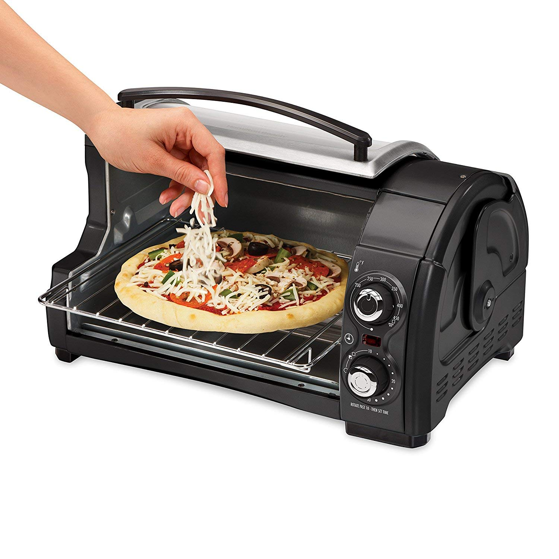 Hamilton Beach Easy Reach Toaster Oven Pizza Maker Electric (Black & Silver Best Value) by Hamilton Beach (Image #3)