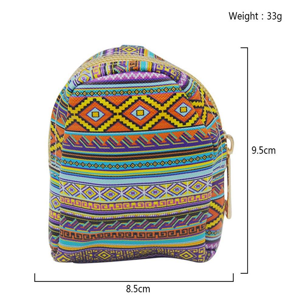 YoKII Keychain Coin Bag Backpack Card Zipper Wallet Display Shelf of 80pc Creamode BWPU01