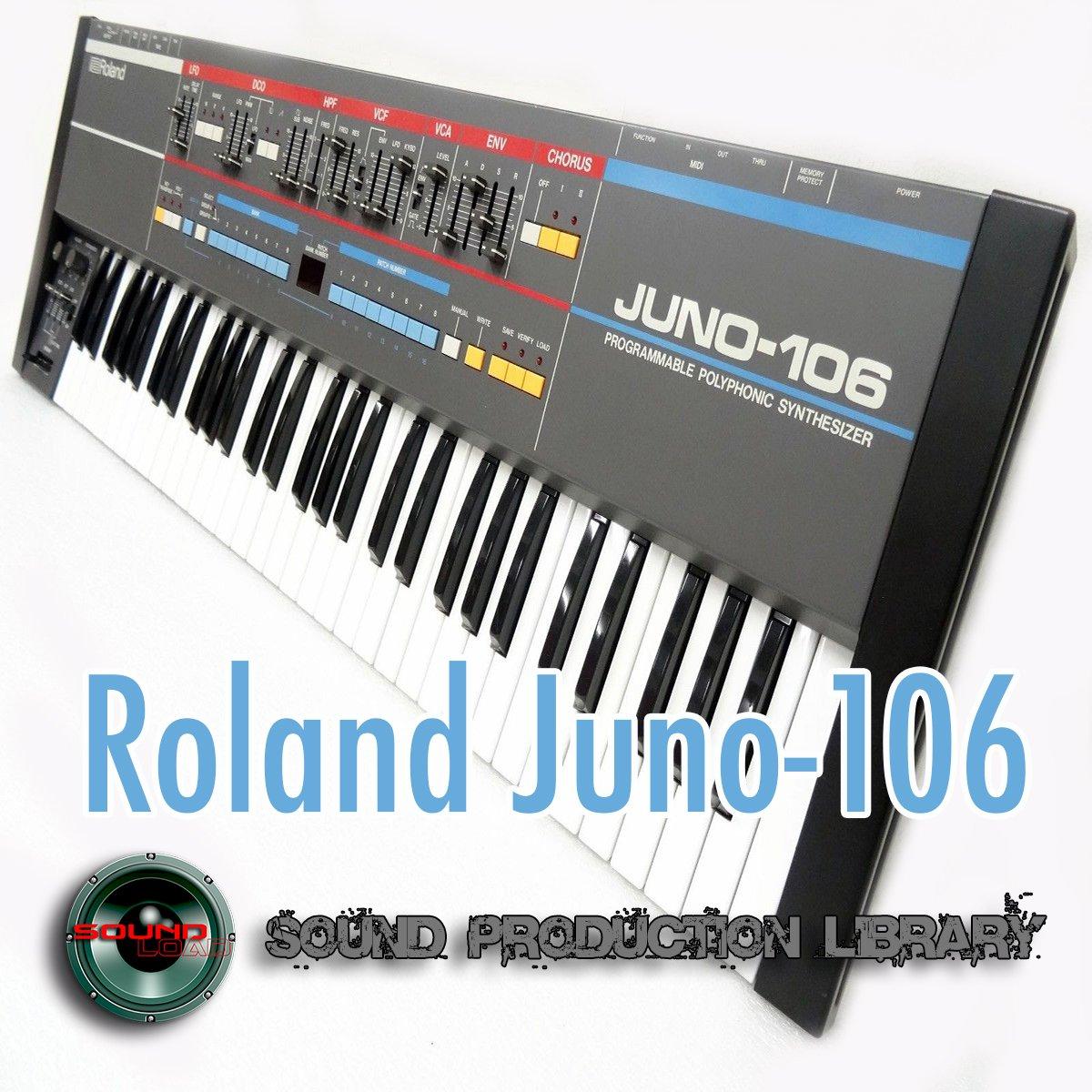 for Roland JUNO-106 - Large Original WAVE/Kontakt Samples Studio Library on DVD or download