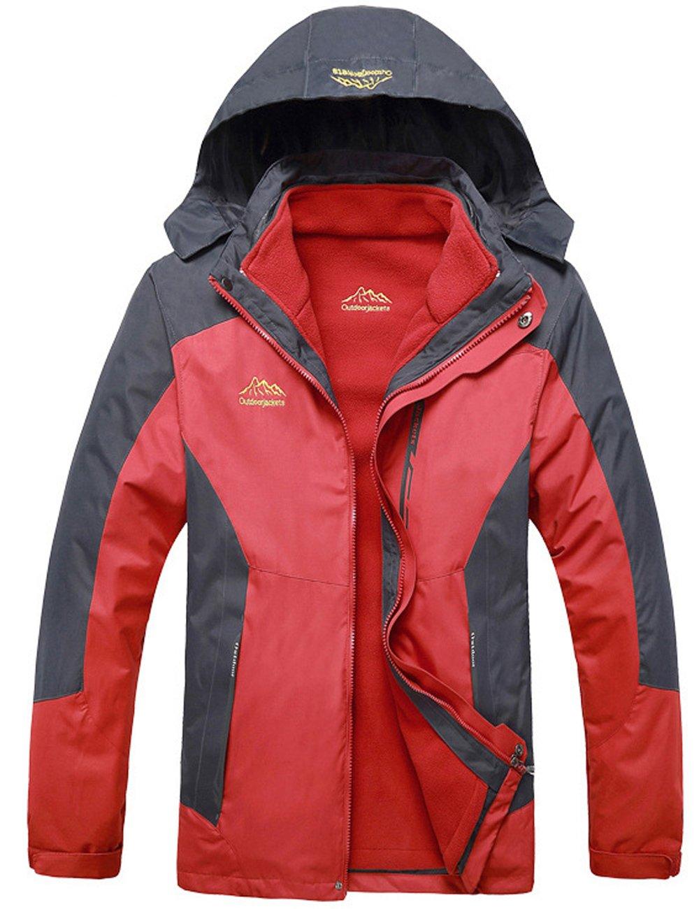Menschwear OUTERWEAR メンズ B076JHSXPV L|Red 599 Red 599 L