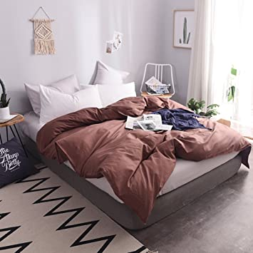 Bettbezug 220 X240 Baumwolle Weiß/blau/orange/braun/grau Komfortable Mode  Modern