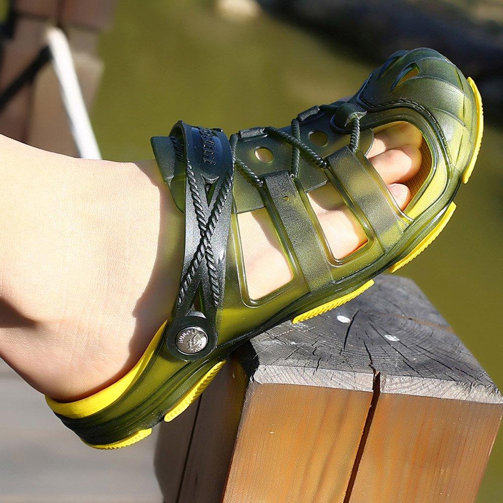Sabots Hommes Mules Respirant Creux Sandales Piscine Chaussures de Jardin D/Ét/é Chaussures de Travail Antid/érapant Bottes de Pluie Chaussons avec Trous de Drainage