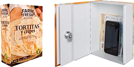 Arregui C9371 Caja De Caudales Camuflada Como Envase De Alimento, Multicolor, 137 X 188 X 68 Mm: Amazon.es: Bricolaje y herramientas