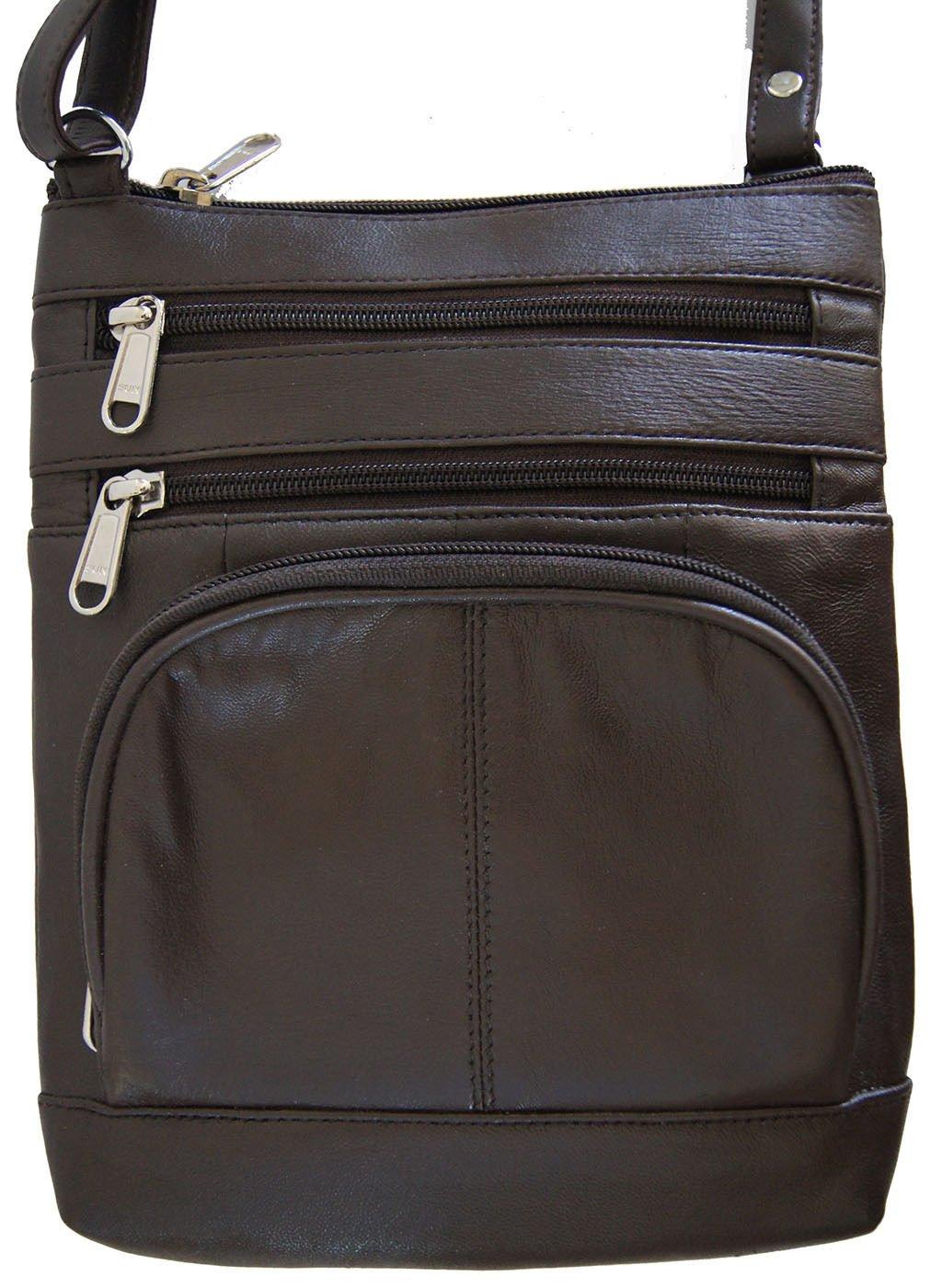Brown Women And Girls Genuine Leather Cross Body Messenger Handbag, Purse