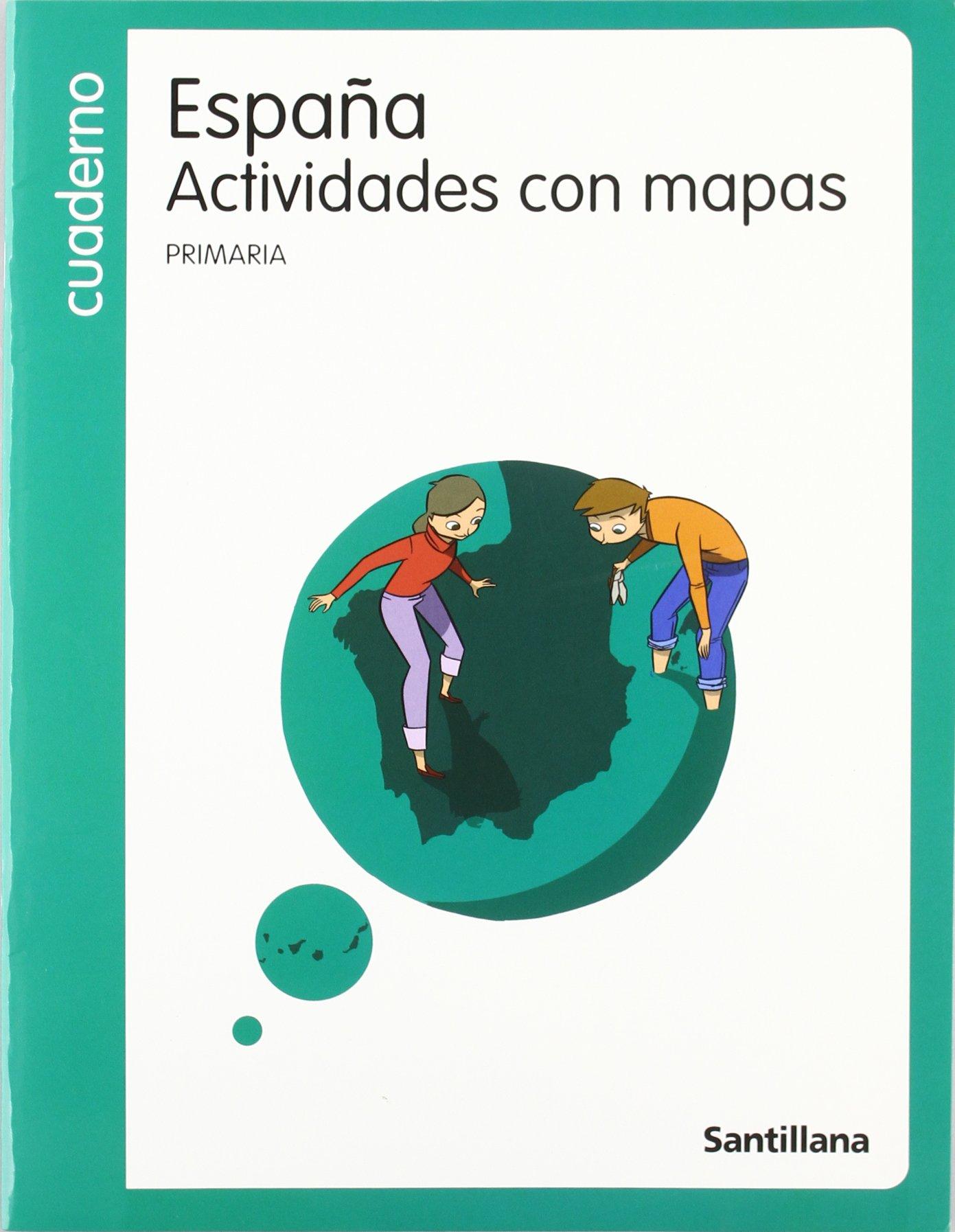 Cuardeno España Actividades Con Mapas PriMaría Santillana ...