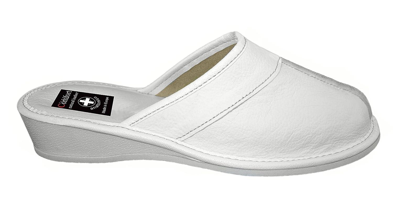 Natural Line , Damen Zehentrenner, weiß - weiß - Größe: 35.5