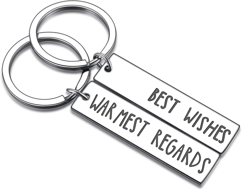 Schitt/'s Creek Quote Warmest Regards Hand Embroidered Keychain