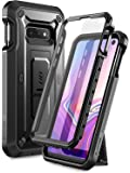 SUPCASE Unicorn Beetle Pro Series Designed for Samsung Galaxy S10e Case (2019 Release) Full-Body Dual Layer Rugged With Holster & Kickstand With Built-in Screen Protector (Black)