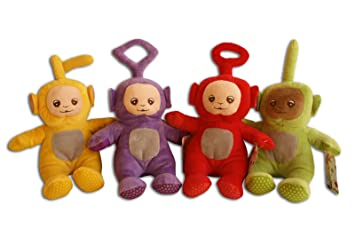 Teletubbies Pack 4x Peluches Set Tinky Winky Dipsy Laa-Laa Po 25cm Muñecos Peluche Juguete
