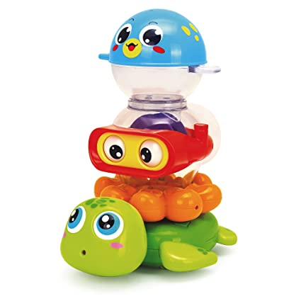 S&C Stack n Squirt Baby Bath Toy w/ 3 Water Animals. Fun ...