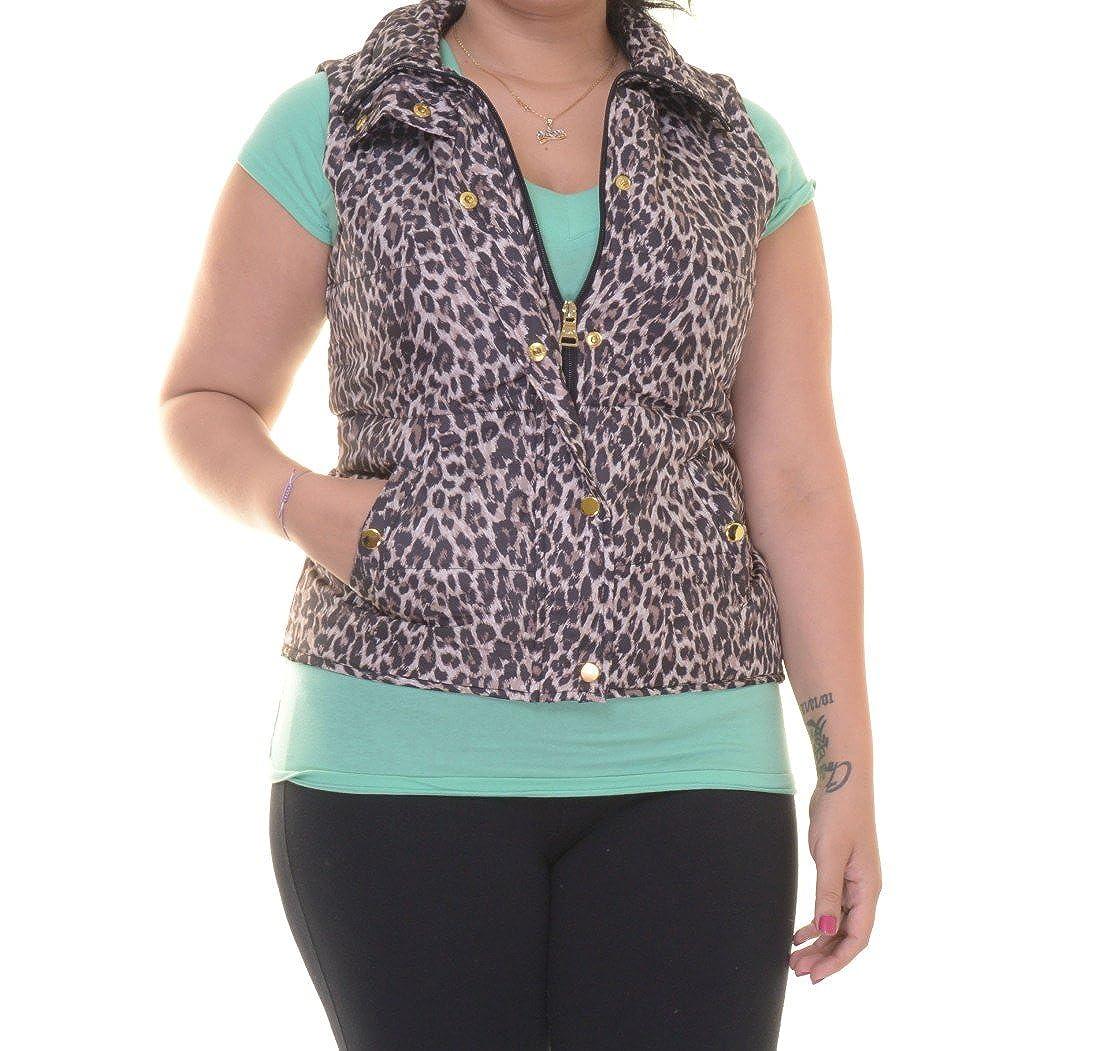 Style & Co. Women's Animal Print Vest Neutral Combo) 9018NTC681