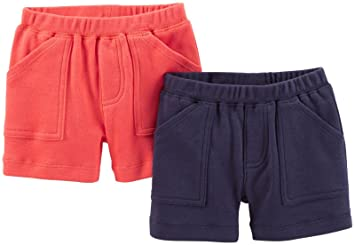 Amazon.com: Carter's Baby Boys' 2 Pack Shorts (Baby) - Navy/Red ...