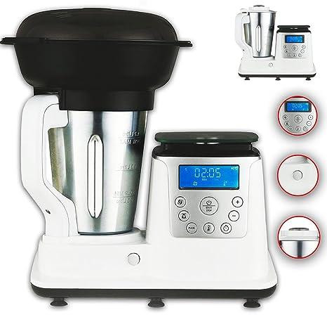 10 in 1 Thermo Multikocher Küchenmaschine mit Kochfunktion/Temperatur 1350  Watt 1.7 Liter Kochen, Mixen, Dampfgaren, Multifunktions-Küchenmaschine, ...
