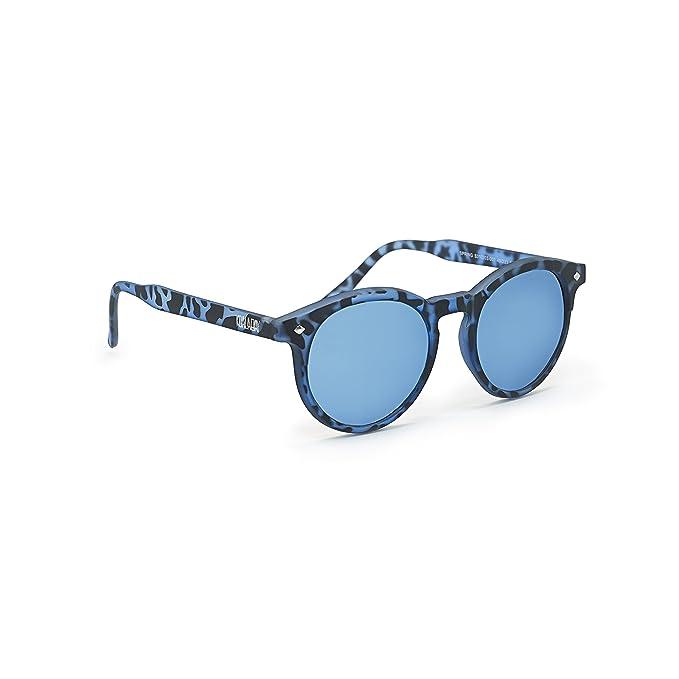 Koala Bay - Gafas de sol redondas polarizadas Springs. Montura color azul carey y lentes