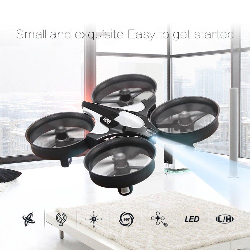 kingtoys® Mini RC Drone, JJRC H36 Mini UFO Drone 2.4G 4 Canales 6 ...