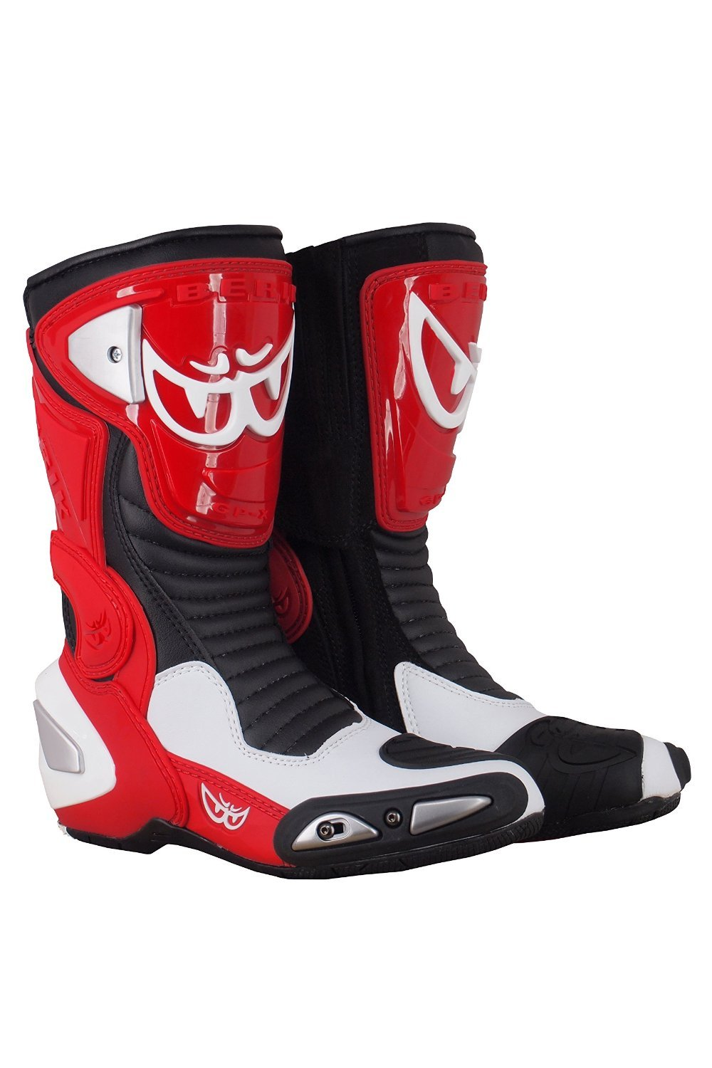 BERIK RACING BOOTS BOT-1289-BK RED 44 B071S8VNVX