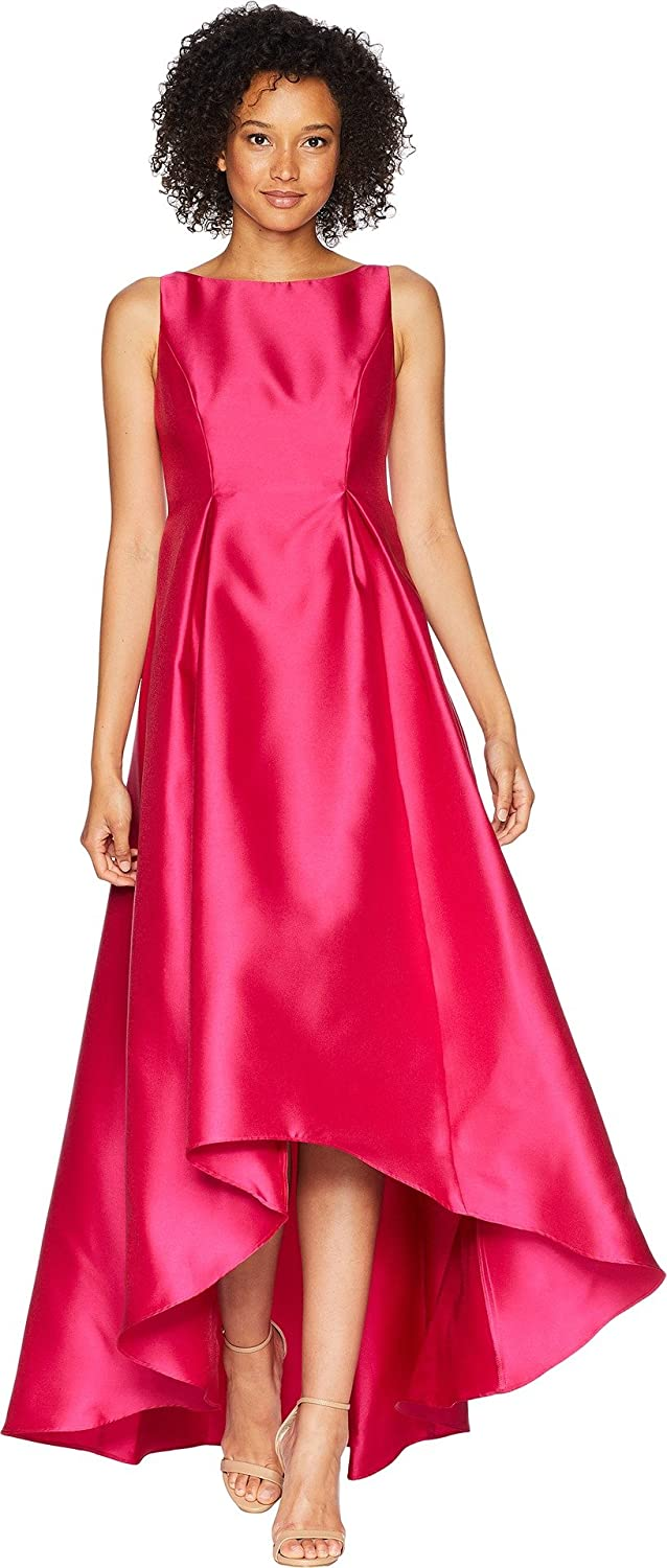 07f1feac96f0f Adrianna Papell Womens High-Low Halter Mikado Gown at Amazon Women s  Clothing store