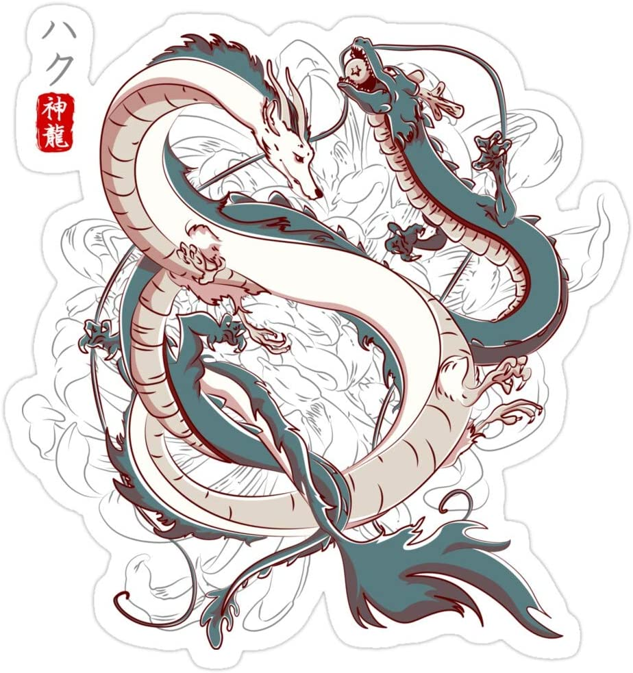 Amazon Com Mrmint Japanese Dragons Stickers 3 Pcs Pack 4202686977983 Kitchen Dining