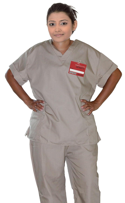 Amazon.com Womenu0027s Khaki Scrub Set Prisoner Costume Small (Fits Dress Sizes 6-8) Clothing  sc 1 st  Amazon.com & Amazon.com: Womenu0027s Khaki Scrub Set Prisoner Costume Small (Fits ...
