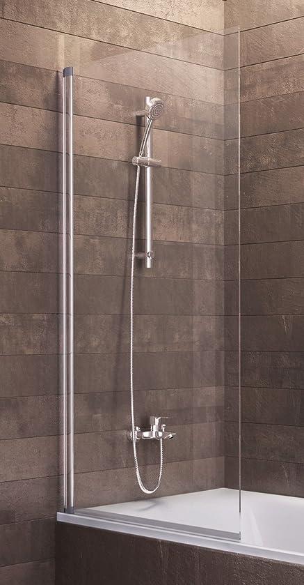 schulte duschwand berlin 70x120 cm 5 mm sicherheitsglas klar alu natur - Duschkabine Badewanne Mehr Praktisch Und Komfortabel