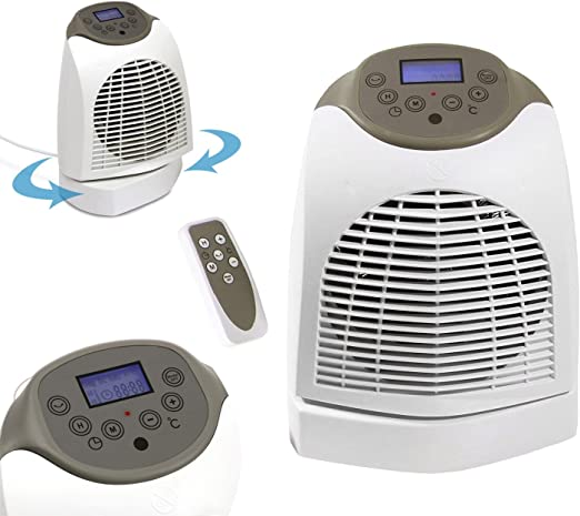 5775 Calefactor caldobagno Quigg mando a distancia y movimiento rotatorio 2200 W. Media Wave Store®: Amazon.es: Hogar