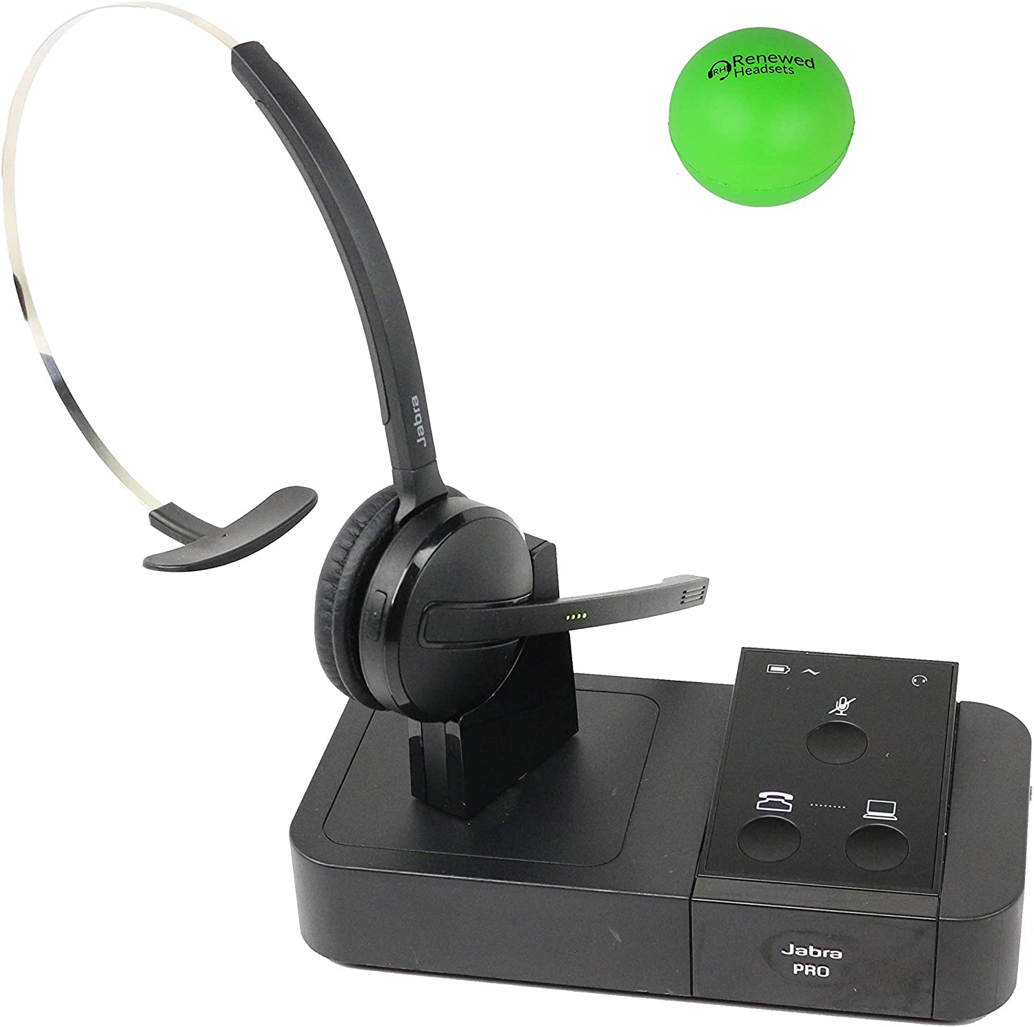 Amazon Com Jabra Pro 9450 Wireless Headset Bundle With Renewed Headsets Stress Ball Renewed Office Products