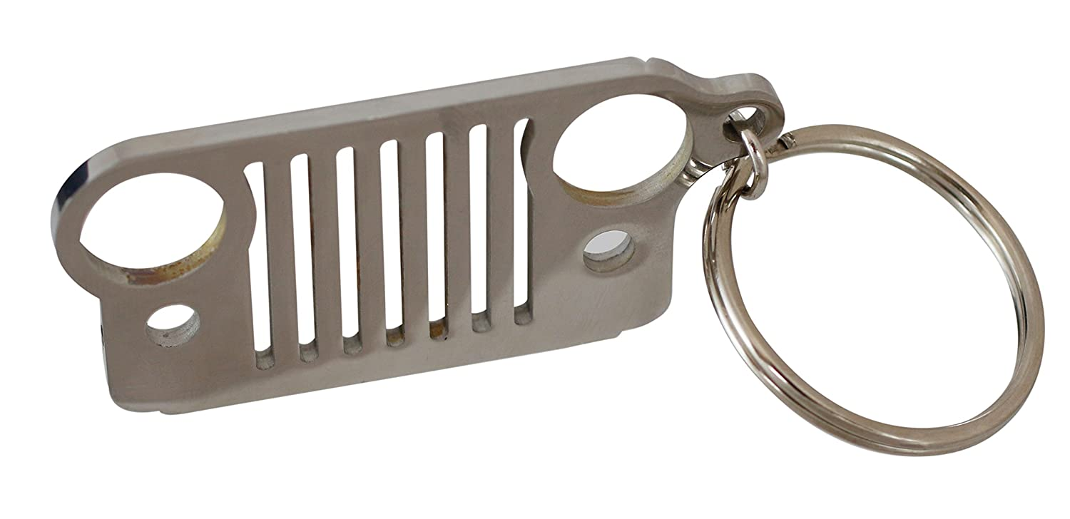 Jeep Grill Stainless Steel Key Chain Forge J-11