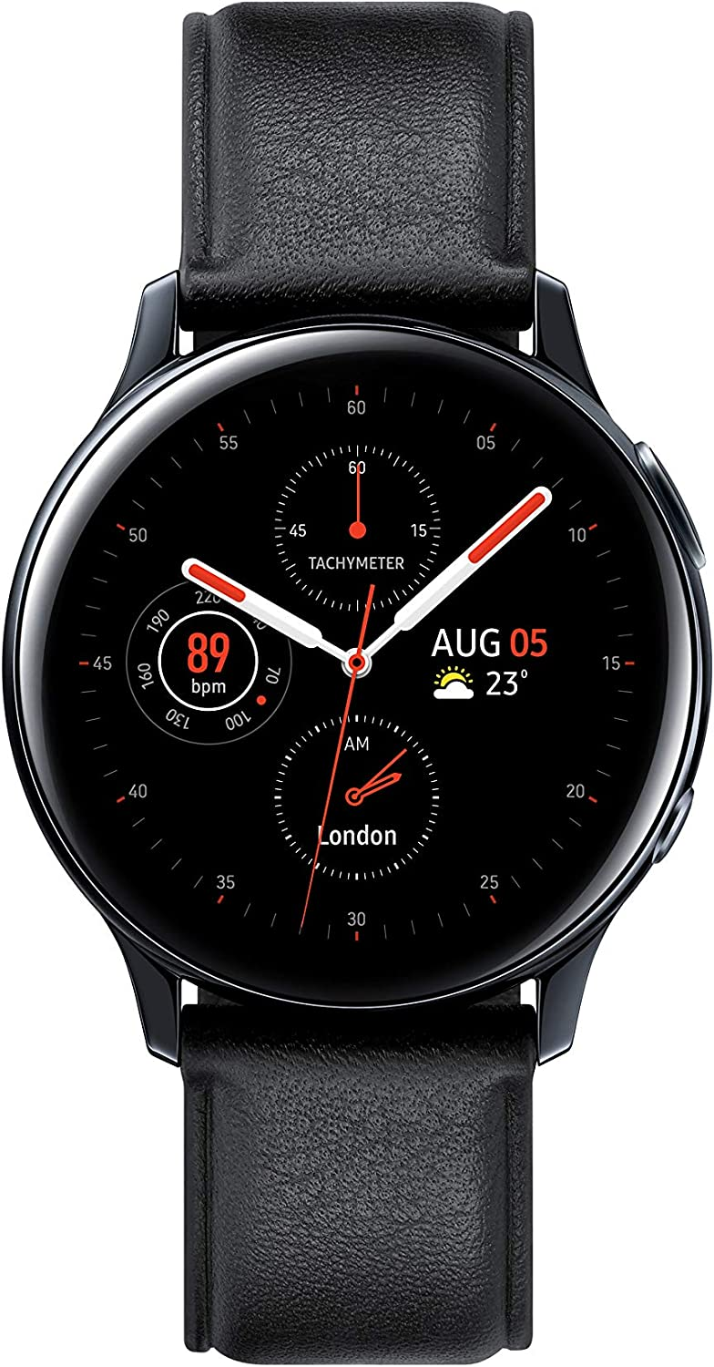 Samsung Galaxy Watch Active 2 - Smartwatch de Acero, 40mm, color Negro, Bluetooth [Versión española]