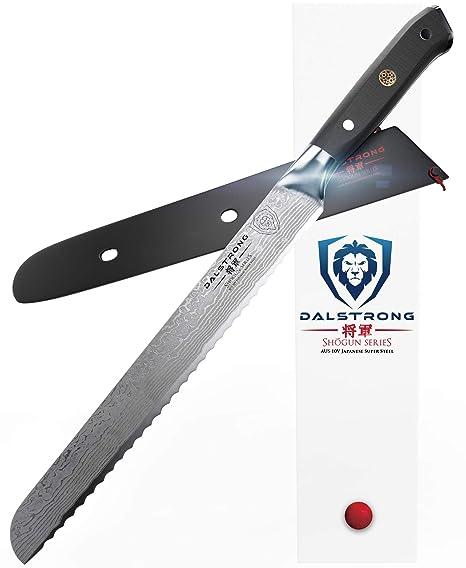 Dalstrong Bread Knife Shogun Series Damascus Japanese Aus 10v Super Steel 10 25 260mm
