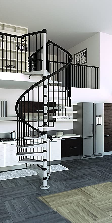 Mister Step Gamia Metal - Escalera de caracol para interiores ...
