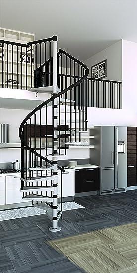 Mister Step Escalier en colimaçon Gamia Metal intérieur en acier ...