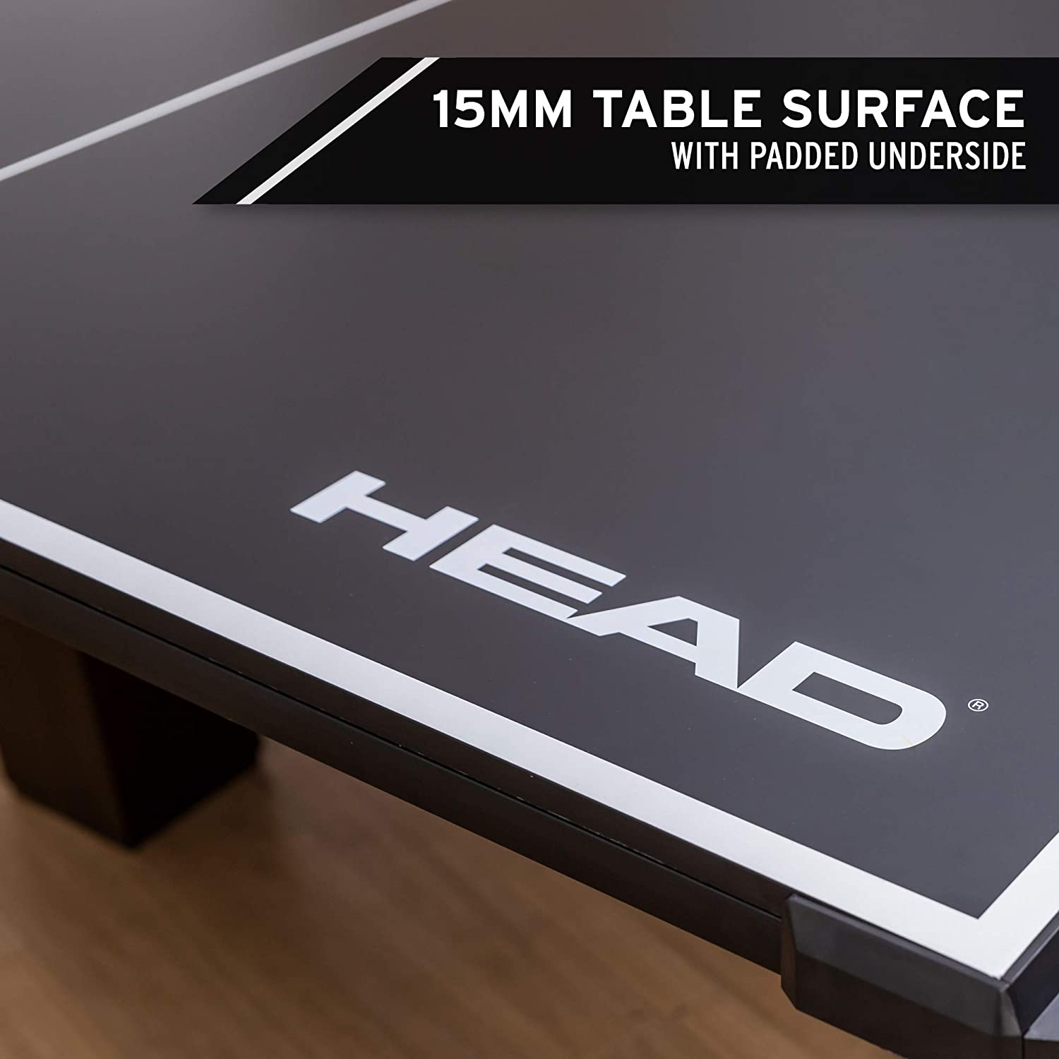 15mm Surface with Clamp-On Net and Built-in Carry Handles HEAD Tournament Size 2-Piece Deluxe Conversion Table Tennis Top