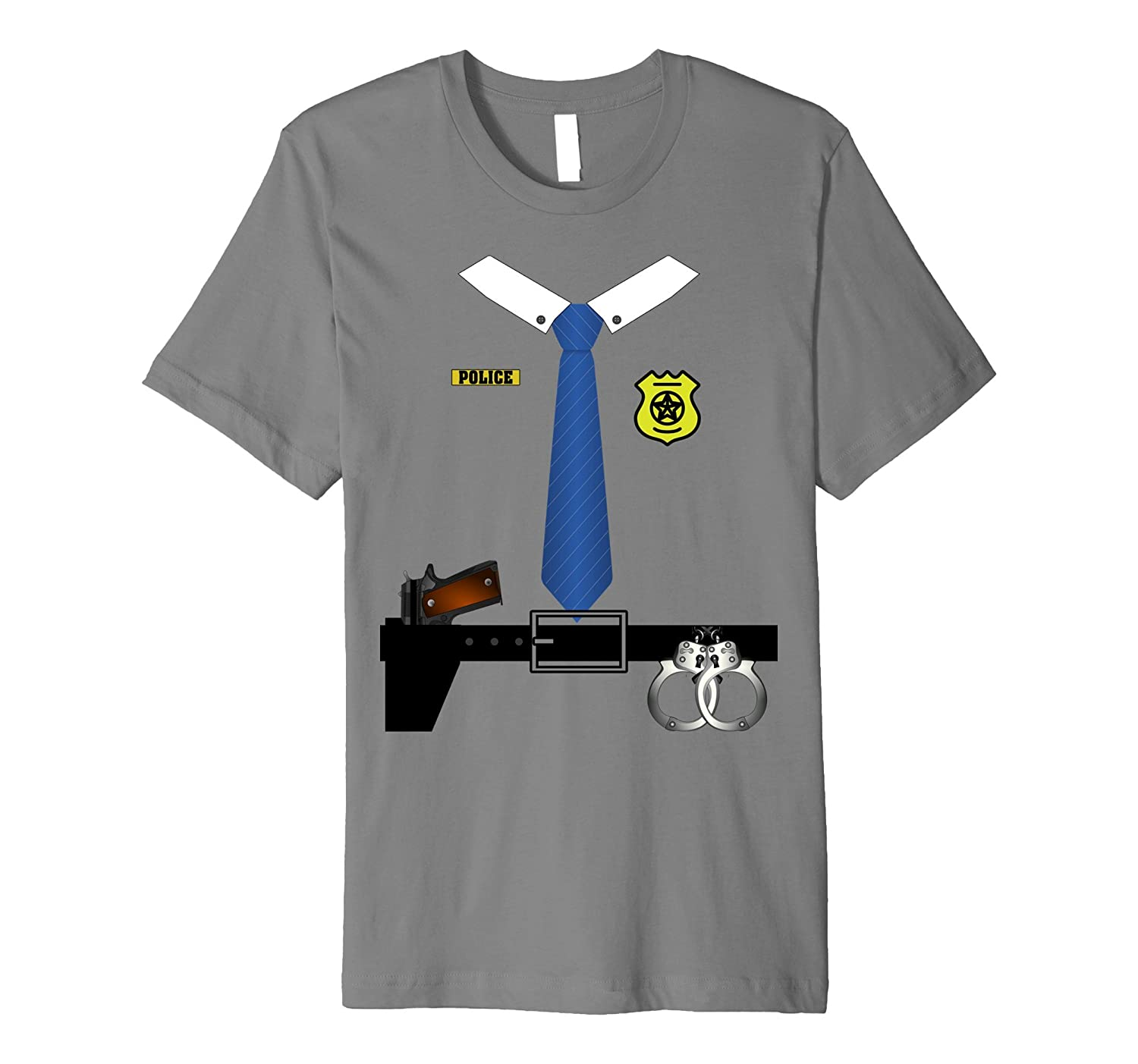 Police Halloween Costume Shirt - Sheriff Cop Men Women Youth