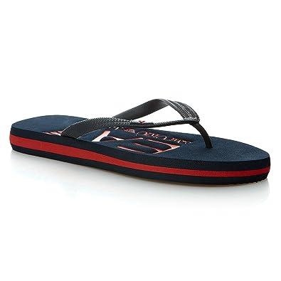 ecb3e0738e1 Emporio Armani Tong EA7 (Bleu)  Amazon.fr  Chaussures et Sacs