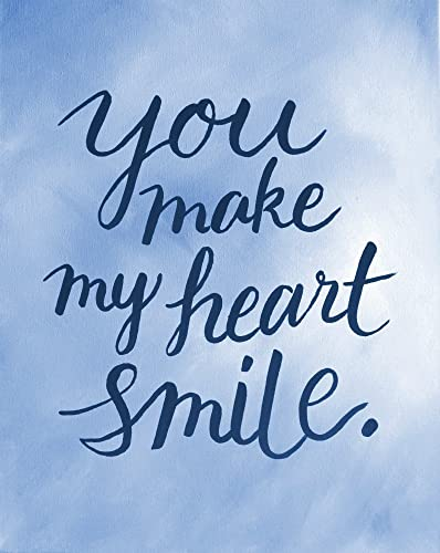 Amazon.com: You Make My Heart Smile Love Quote Art Decor ...