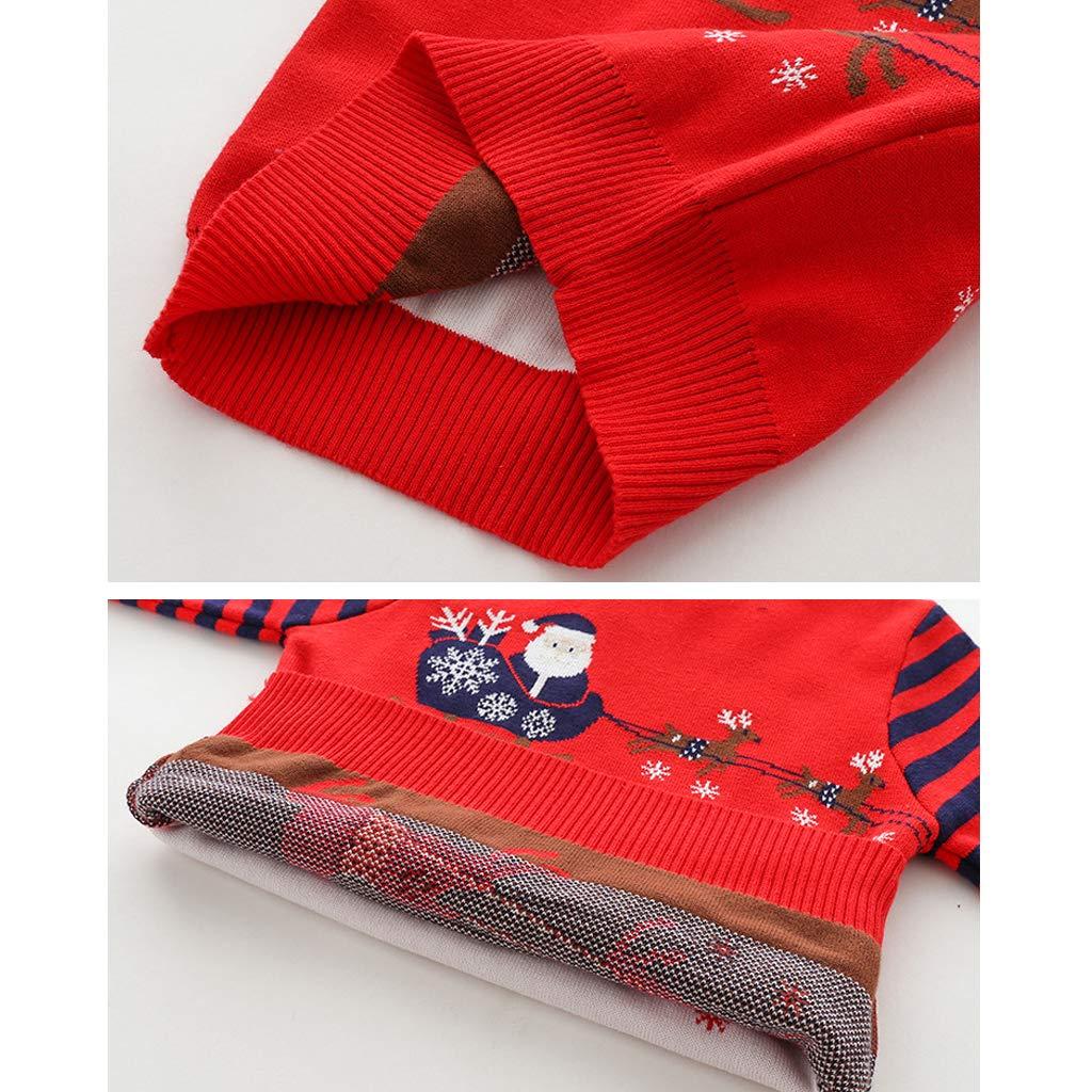 Kinder Weihnachten Strickpullover Baby Winter Sweatshirt Gestricktes Langarm Pullover Hirsch 1-6 Jahre