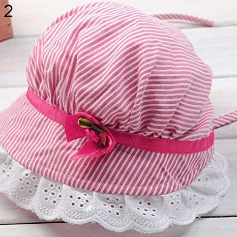wintefei Toddler Infant Baby Girls Outdoor Flower Bucket Hat Summer Sun Beach Beanie Cap