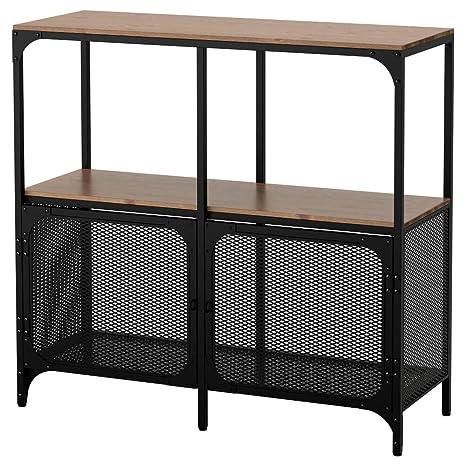 Ikea Scaffali Di Metallo.Ikea Asia Fjallbo Scaffale Nero Amazon It Casa E Cucina