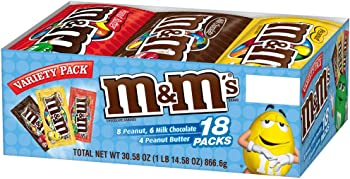 18-Count M&M'S Chocolate Candy Singles Size Variety Pack