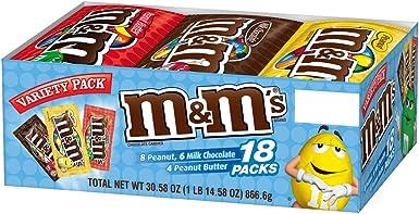 M&MS Variety Pack Chocolate Candy Singles Size 30.58-Ounce 18-Count Box: Amazon.es: Alimentación y bebidas