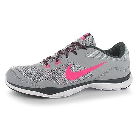 Nike Flex Trainer 5 Zapatillas de Entrenamiento para Mujer Gris/Rosa Fitness Zapatillas Zapatillas,
