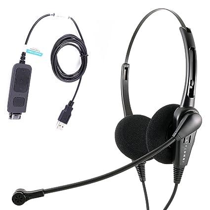 Economic Call Center USB Binaural PC headset with Plug N Play USB Headset  for MS Lync, Skype, Cisco Jabber, Avaya One-x Agent