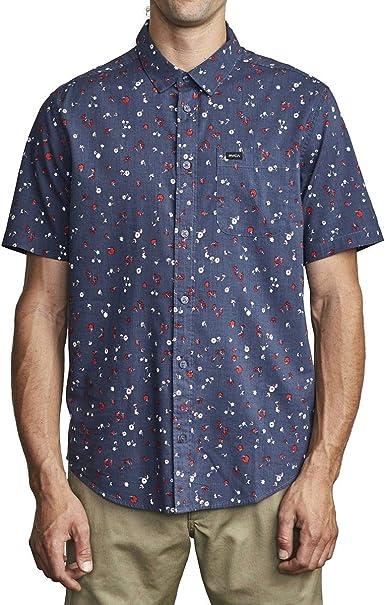 RVCA Calico Camisa con botones para hombre: Amazon.es: Ropa y accesorios