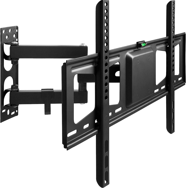 TecTake Support Mural TV Universel inclinable et pivotant pour /écrans Plats Vesa Max 81-152cm pour 32-60 600x400 | Distance du Mur Seulement 55-356mm