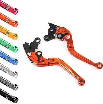 Smadmoto Leva Leve Freno e Frizione Pieghevoli Estendibile Regolabile per Honda CBR900RR CBR 900 RR CBR 900RR FIREBLADE 2000 2001 Arancione