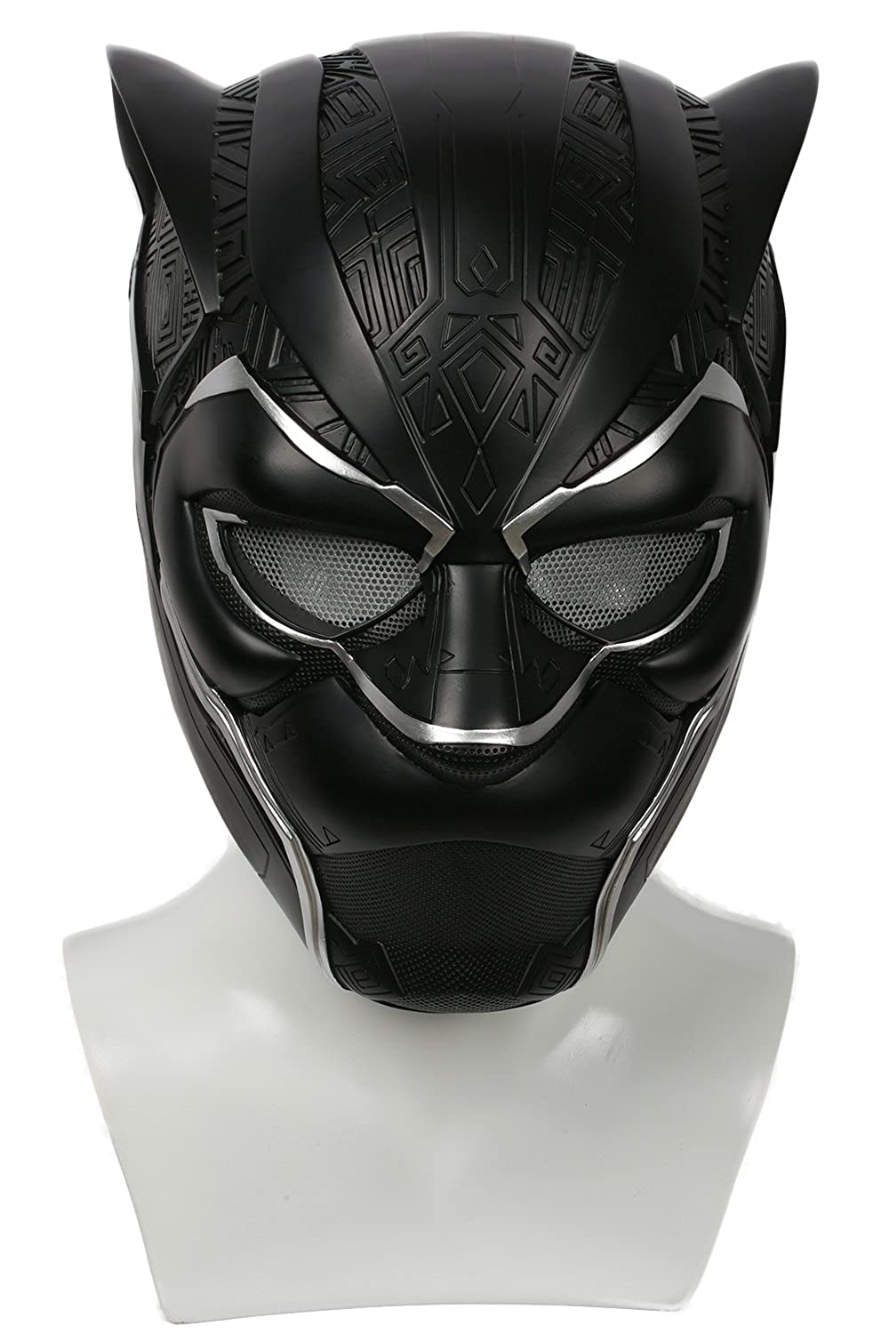 Black Panther Mask Civil Wars Deluxe PVC Helmet Captain Cosplay Costume Adult Xcoser