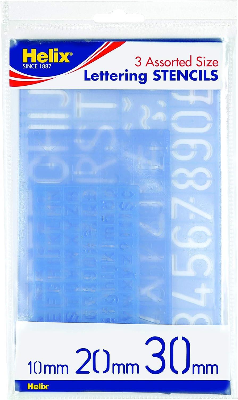 stencil lettere in corsivo Helix H23100 20 mm Blue