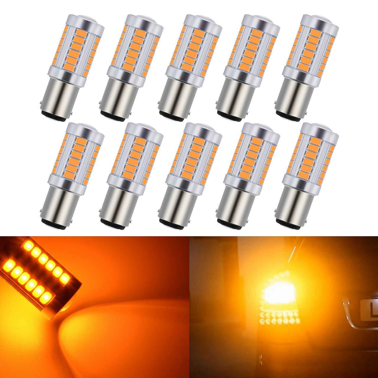 KaTur 4pcs 1156 BA15S 1141 7056 5630 33-SMD White 900 Lumens 6500K Super Bright LED Turn Tail Brake Stop Signal Light Lamp Bulb 12V 3.6W 4AM-CL-368-1156-White