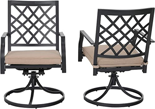 Swivel Patio Chairs Set of 2 Outdoor Dining Rocker Chair Support 300 lb